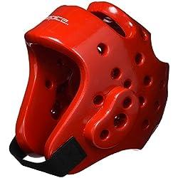 DEPICE Schutzausrüstung Kopfschutz - Casco de artes marciales, color rojo, talla M