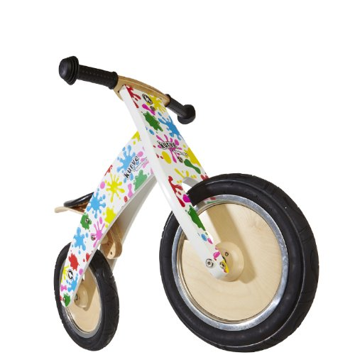 Kiddimoto - Vélo d'équilibre en bois pour enfants, Homme, Splatz, 10-18 Inch