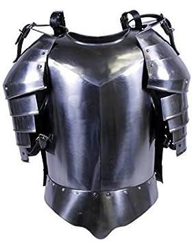 Medieval Times hombro guardia acero Pechopetral talla única plata