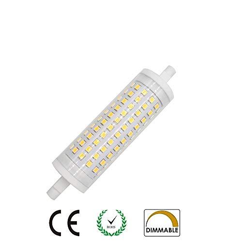AscenLite R7s LED-Leuchtmittel, 15 W, 118 mm, dimmbar, Warmweiß, 3000 K, entspricht 150 W Halogenlampe - T3 Halogenlampe 150w