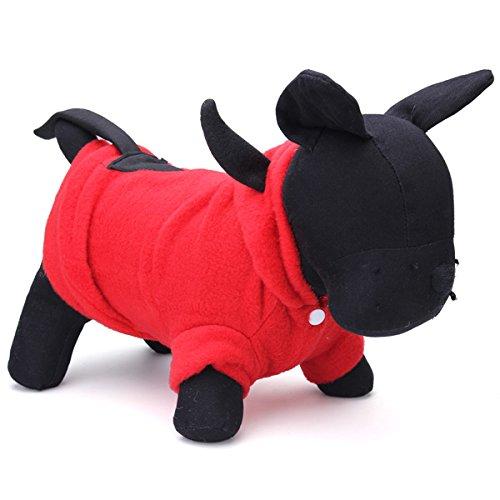 Kungfu Mall Haustier Hund Katze Fancy Teufel Kostüme Puppy Coat Hoodie Jumpsuit