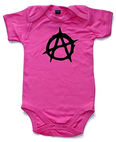 Anarchie Gedruckt Kurzärmlig Strampler in 10 Farben und 4 Größen Baby Weste Strampler - Kaugummi Rosa, 0-3 Months