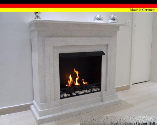 Ethanol und Gelkamin Modell Berlin Deluxe Granit hell incl. regulierbaren Brenner Schwarz 3 Liter