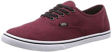 Vans AUTHENTIC LO PRO Unisex-Erwachsene Sneakers, Rot (Tawny Port/True White), 34.5