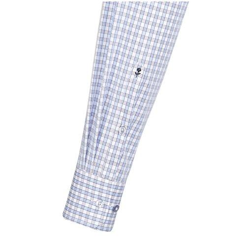 SEIDENSTICKER Herren Hemd Comfort 1/1-Arm Bügelfrei Karo City-Hemd Kent-Kragen Kombimanschette weitenverstellbar beige (0022)