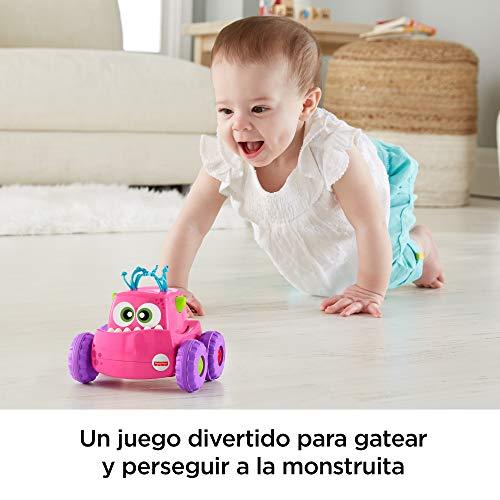 e0f46a8e5 Fisher-Price Coche Monstruito rosa, juguete gateo, bebé +9 meses (Mattel