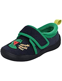 Clarks Shilo Drum Fst Boy'S First Slippers 2.5 Navy Synthetic