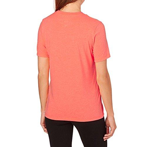 Converse Damen Solid Chuck Patch Tee T-Shirt hyper orange heather