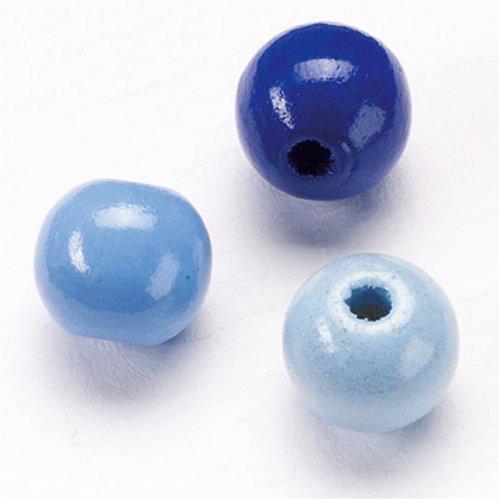Imagen principal de Gütermann / KnorrPrandell 6031340 - Madera de 12 mm bola perla azul-mix, 30 piezas / bolsa [Importado de Alemania]