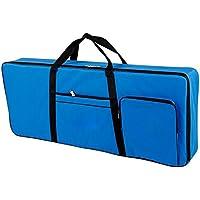 QEES 61 Note - Bolsa de piano eléctrico Oxford 600D con funda de algodón de 10 mm, bolsa de gigo, 101,6 x 40,6 x 15,2 cm, color azul
