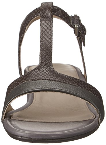 Ecco Touch 25 S, Sandales à bride et talon compensé femme Gris - Grau (DARK SHADOW/DARK SHADOW56586)