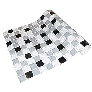 SunniMix Selbstklebende Mosaik Fliesen Wand Aufkleber Innenausgangs Badezimmer Küche Des Glitter 3D - h
