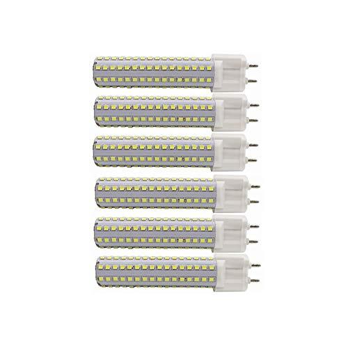 Bombillas de luz LED G12 de 15W, base de luz halógena de halógeno G12 150W Bombilla de luz de reemplazo de maíz de 360W Lámpara de inundación de 360   ° para el garaje de la calle Almacén de paisaje Fábrica AC85-265v 5 paquetesDatos técnicos:Producto...