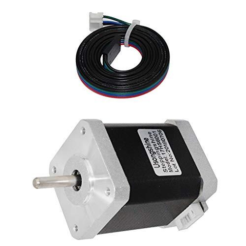 non-brand Schrittmotor Nema 17 Stepper Motor mit 4Pol Kabel für 3D-Drucker, 12V, 1.5A, 0,8Nm, 1.8deg