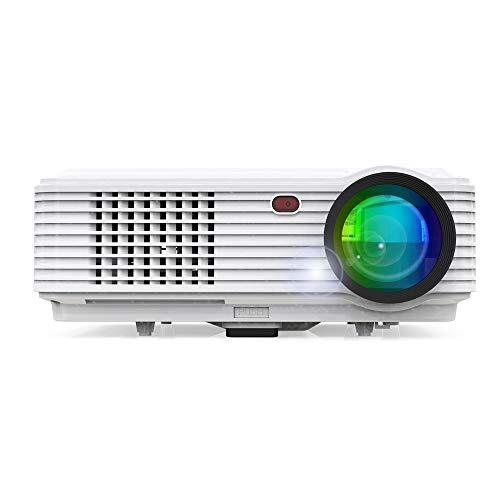 QUARKJK WiFi-Version Projektor 7000 Lumen 1080P Tragbarer Led-Projektor Digitalprojektor mit AV-VGA-Kabel (7000 Projektor)