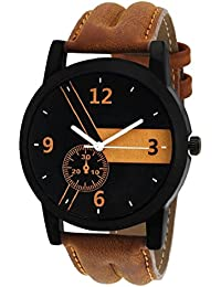 Peter India™New Collection Festive Season Special Black Round Shapped Dial Brown Leather Strap Party Wedding |...