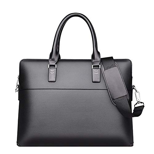 LZRDZSWYXGS Business-Aktentasche, Art und Weise klassische Laptop-Tasche, Querschnitt weiche Ledertasche, einfach beiläufige Handtasche, Herrenschulter Diagonal-Paket Perfekt für Hochzeit, Party, Prom -