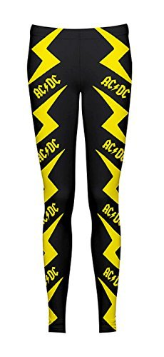 AC/DC -  Leggings  - Donna nero Large
