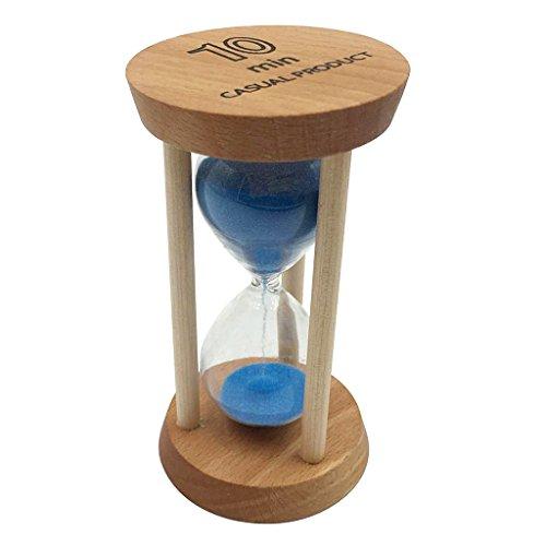 Sharplace 10 Minuten Sanduhr Sandglass Eieruhr Timer für Kochen, Maske, Lesen, Yoga, Spielen, Haus Zimmer Büro Dekoration - Blau