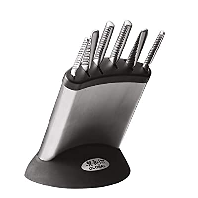 Global G-636/7B 7 Piece Knife Block Set
