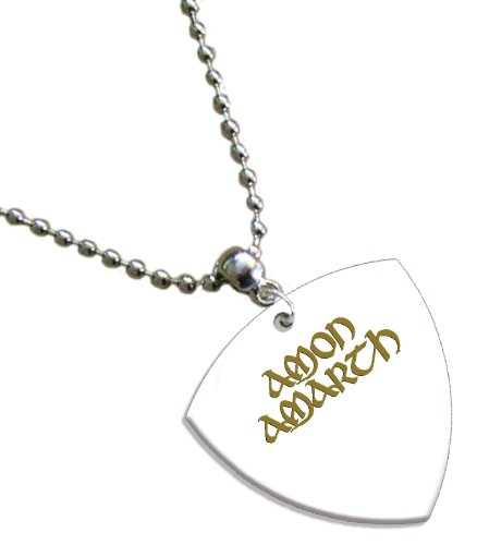 Amon Amarth Hot Foil on White Bass Pick Collana con plettro