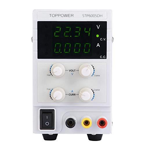 Akozon Labornetzgerät DC Geregelte Stromversorgung STP6005DH 4 LED DC-Geregelte Stromversorgung 300W 0-60V 0-5A Einstellbares Digitales Netzteil (EU-Stecker) (60 Dc-netzteil Volt)