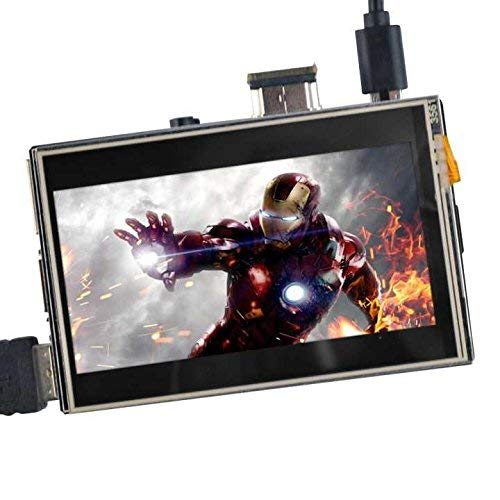 "OSOYOOO Touchscreen LCD-Monitor HDMI Display 3,5\"" Zoll TFT-Audioausgang mit Stylus und Anleitung für Raspberry Pi 3 2 Modell B"