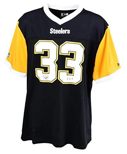 sports shoes 3a592 e17e0 New Era Pittsburgh Steelers T Shirt NFL Herren Damen New Era Wei? Schwarz  Gelb Tri Colour - S