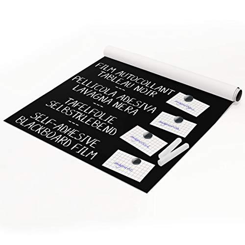Bilderwelten Tafelfolie magnetisch - Blackboard selbstklebend - Wohnzimmer 150 x 100 cm