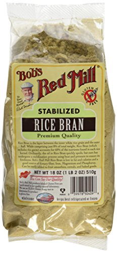 One 18 oz Bob's Red Mill Rice Bran by Bob's Red Mill