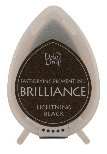 Brilliance Dew Drop Pigment Ink Pad-Lightning Black -