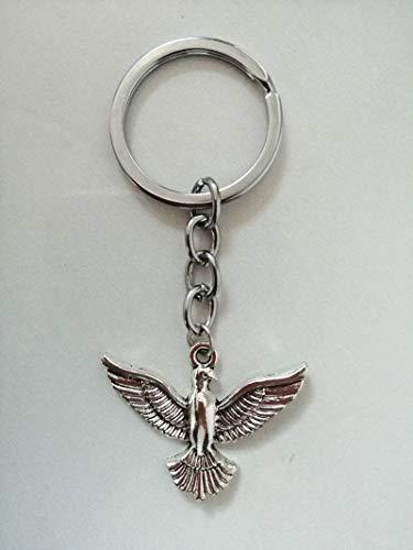 VAWAA Taube Schlüsselanhänger Schnee-weiß Messenger Schlüsselanhänger Schöne Taube Schlüsselanhänger Taube Anhänger Schlüsselanhänger -