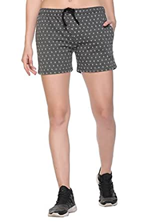 Colors & Blends - Women's Cotton Printed Shorts