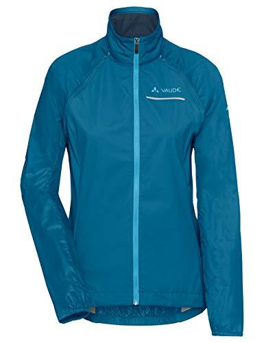 Vaude Damen Windoo Pro Zip-Off Jacket Jacke, Kingfisher, 38 Front Zip Windbreaker Jacke