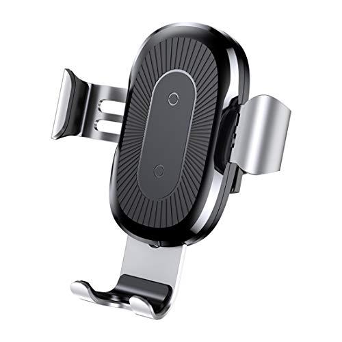 WSSZZ319 Schnelles drahtloses Ladegerät Dock Stand Car Wireless Charger für iPhone X Xs XR 8 7 10W Autohalterung für Samsung S9 S8 Autotelefon Ladegerät,Gray - Iphone-cd-player-dock