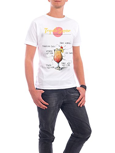 """Design T-Shirt Männer Continental Cotton """"Cocktail Tequila Sunrise"""" - stylisches Shirt Essen & Trinken von Arman Akopyan Weiß"""