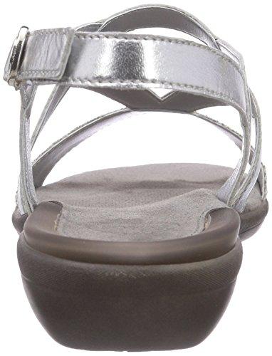 Scholl LORAINE Damen Slingback Sandalen Silber (Silver)