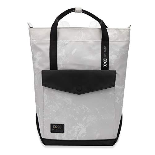 Wind Took Damen Rucksack Daypack Tagesrucksack Klein für Uni Büro & Alltag - Wasserabweisend & mit Laptopfach, 37 x 26 x 10 CM, Grau