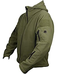 Chaqueta de Seguridad Polar con Capucha para hombre Táctica Militar Ejército de EE.UU. Británico Reconocimiento Policía