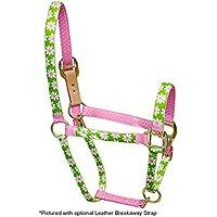 Rosso Haute Cavallo PJ Pet Products Daisy Design Alta Moda Premier qualità testa di cavallo collare, colore: verde