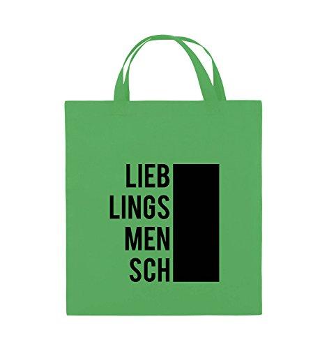 Comedy Bags - LIEBLINGSMENSCH - BLOCK - Jutebeutel - kurze Henkel - 38x42cm  - Farbe: