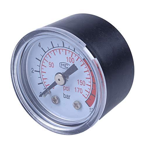 Cikuso 0-12BAR 0-170PSI Rosca 10mm Manometro del compresor de la presion de la bomba de aire del gas