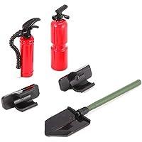 Heraihe Mini extintor Annihilator Pala de 1/10 RC4WD TRX-4 orugas Coches de RC para 1/10 AX10 SCX10 RC4WD TRX-4 orugas del Coche de RC