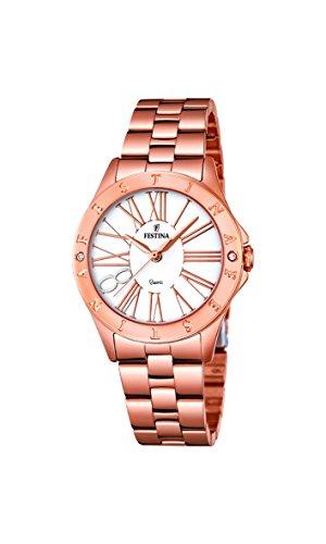 Festina F16926_1 - Reloj Analógico Para Mujer, color Blanco/Rosa