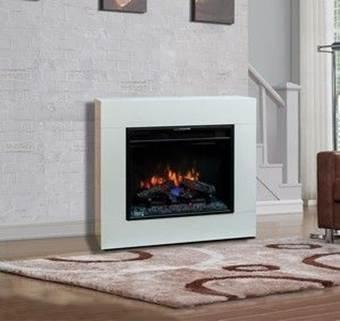 Classic Flame Moderner Wandkamin zum stellen oder hängen Modell Simo weiss von Classic Flame bei Heizstrahler Onlineshop