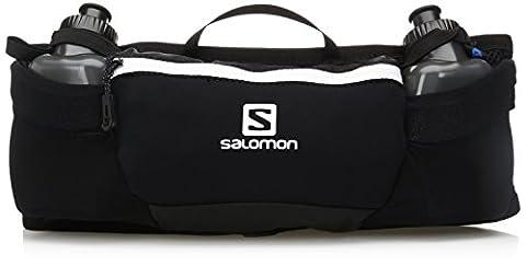 Salomon, ENERGY BELT, Ceinture de course avec petites bouteilles, Unisexe, 2 petites bouteilles (200 ml) incluses, Noir, L38254400