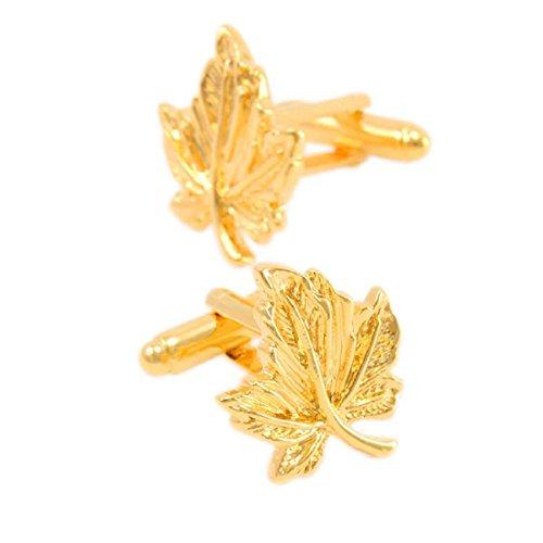 Männer Manschettenknöpfe Gold Einfach Baum Blätter Manschettenknöpfe Geschenke Französisch Hemden Manschettenknöpfe,Gold-M (Kupfer-baum-nägel)