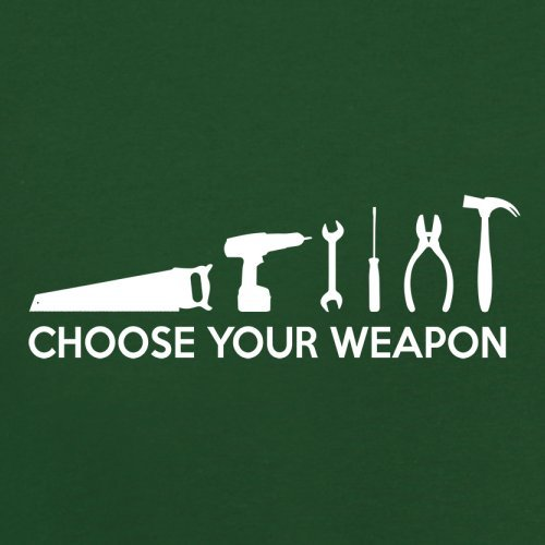 Choose your Weapon (DIY Tools) - Herren T-Shirt - 13 Farben Flaschengrün