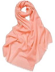 Prettystern - 100% Wolle einfarbig feine Fäden 80 Garn unifarbe Pashmina Schal - 20 Farben