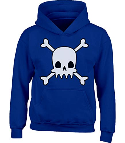 t Halloween Kinder Kostüm Kinder Kapuzenpullover Hoodie M 122/128 (7-8J) Blau ()